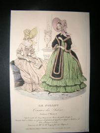 Le Follet C1840's Hand Coloured Fashion Print 635
